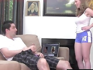 Ass, Clothed Sex, Couple, Cute, Fetish, Foot Fetish, Handjob, Hardcore, Long Hair, Shorts,