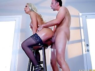Anal Sex, Big Tits, Blonde, Blowjob, Boots, Cowgirl, Cumshot, Dick, Doggystyle, Facial,