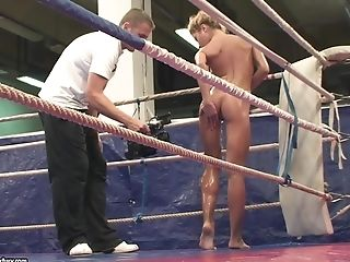 Babe, Behind The Scenes, Blonde, Catfight, Lesbian, Nude, Oiled, Wrestling,