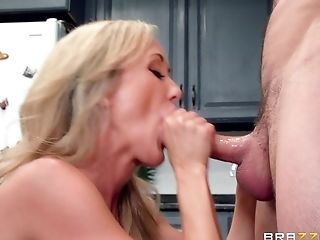 Big Tits, Blonde, Blowjob, Brandi Love, Couple, Cowgirl, Cumshot, Facial, Fake Tits, Hardcore,