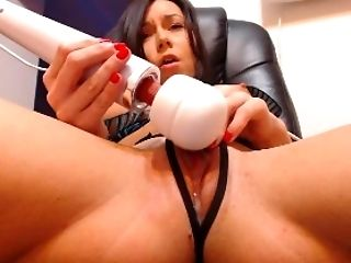Clamp, Close Up, Homemade, Masturbation, Model, Pussy, Sex Toys, Shaved Pussy, Solo, Vibrator,