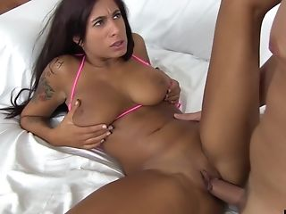 Big Tits, Bikini, Couple, Cum In Mouth, Cum Swallowing, Cum Swapping, Cumshot, Doggystyle, Fake Tits, Fingering,