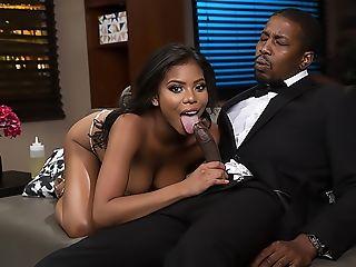 Big Natural Tits, Big Tits, Black, Blowjob, Doggystyle, Hardcore, HD, High Heels, Missionary, Money,