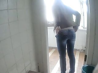Blonde, Jeans, Toilet, Voyeur, Young,