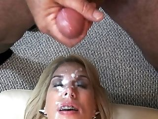 Amateur, Blonde, Bukkake, Cum, Cumshot, Facial, HD,