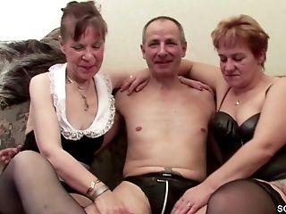 69, Casting, German, Grandpa, Granny, Hardcore, HD, Stranger, Threesome,