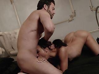 Beauty, Bedroom, Blowjob, Boobless, Boots, Brunette, Cumshot, Deepthroat, Foreplay, Gagging,