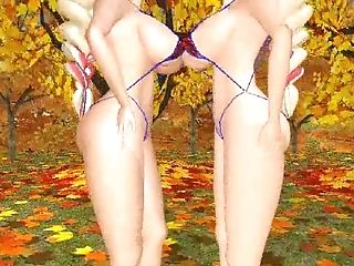 3d, Cartoon, Catfight, Twins,
