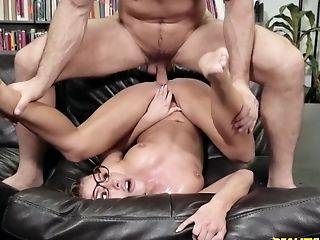 Babe, Blowjob, Couch, Cowgirl, Doggystyle, Glasses, Hardcore, HD, Librarian, Moaning,