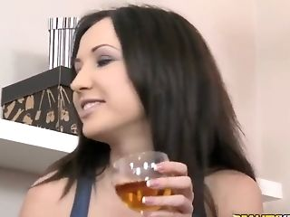 Anal Sex, Blowjob, Bold, Brunette, Cute, Double Penetration, Facial, Group Sex, HD, Karina Shay,