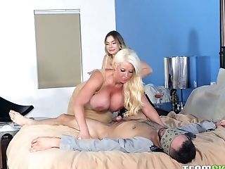 Ass, Big Tits, Blowjob, Cowgirl, Cuckold, Cumshot, Curvy, Cute, Facial, Green Eyes,