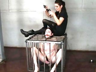 Bimbo, Couilles, Bdsm, Bondage , Dans Une Cage, Casting , Gagging, Lesbiennes, Mannequins , Princess Donna,