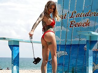 American, Babe, Beach, Big Cock, Big Tits, Bikini, Blowjob, Doggystyle, Fake Tits, Gorgeous,