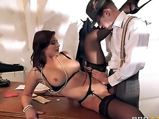 Anal Sex, Anna Polina, Big Tits, Black, Blowjob, British, Brunette, Doggystyle, HD, Russian,