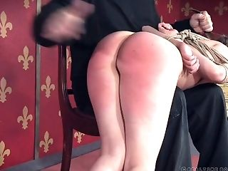 Ass, BDSM, Bondage, Boobless, Brunette, Dirty, Fingering, Lingerie, Nipples, Slap,