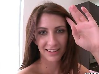 Analsex, Blowjob, Brünette, Spermaschlucken, Facial, Hardcore, Hd, Jizz, Karina White, Natürliche Titten,