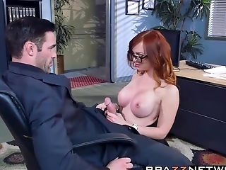 Blowjob, Dani Jensen, Desk, Hardcore, Kinky, Office, Redhead, Rough,