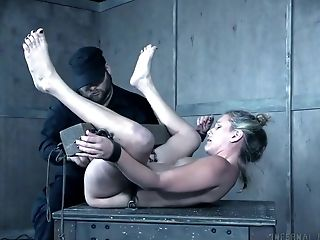 BDSM, Bold, Bondage, Boobless, Close Up, Dungeon, Makeup, Nipples, POV, Punishment,