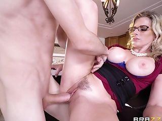 Balls, Blonde, Cory Chase, Couple, Glasses, Kitchen, MILF, Pornstar,