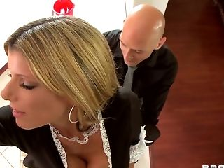Big Cock, Big Tits, Blonde, Blowjob, Condom, French, HD, Kristal Summers, MILF, POV,