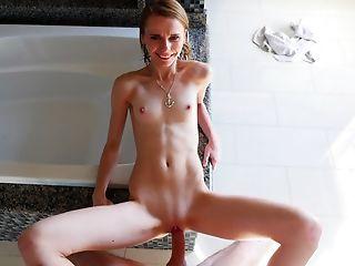 Amazing, Babe, Bathroom, Blonde, Boobless, Erotic, Facial, Pornstar, POV, Shower,