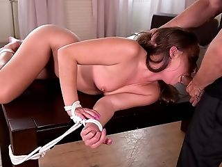 Ass, Blowjob, Bondage, Couch, Cum In Mouth, Deepthroat, Domination, Fingering, HD, Helpless,