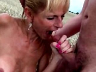 Big Tits, Blonde, Blowjob, Cumshot, Dick, Felching, GILF, Granny, HD, Oral Sex,
