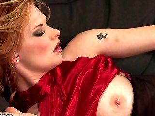 Anal Toying, Ass, Blowjob, Bra, Close Up, Couple, Dick, Dressed, Fake Tits, Hardcore,