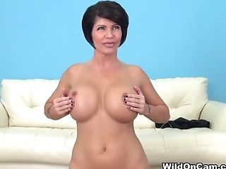 Big Ass, Big Tits, Brunette, Dildo, Horny, Masturbation, Mature, Pornstar, Sex Toys, Shay Fox,