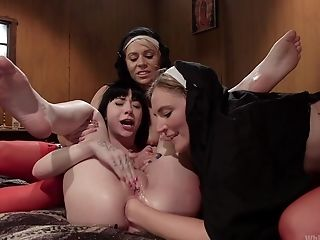 BDSM, Bondage, Cute, Femdom, Fetish, Fisting, Lesbian, Moaning, Submissive, Threesome,