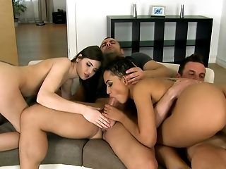 Anal Sex, Babe, Bold, Couch, European, Ffmm, Foursome, From Behind, Group Sex, Hardcore,