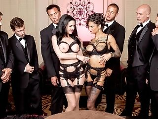 Anal Sex, Big Tits, Bonnie Rotten, British, Double Penetration, Gangbang, Group Sex, Hardcore, HD, MILF,