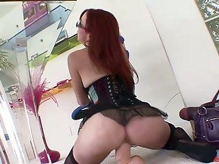 Ass, Beauty, Cute, Glasses, Horny, Jerking, Redhead, Sex Toys, Slut, Solo,