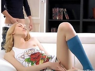 Anal Sex, Blonde, Boobless, Couple, Hardcore, Russian, Skinny, Socks,