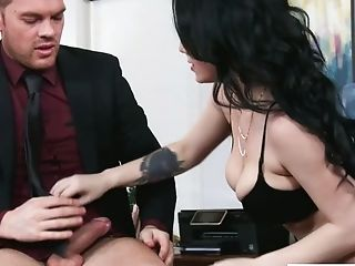 Beauty, Boss, Brunette, Cute, Horny, Jennifer White, Money, Oral Sex, Slut, Threesome,