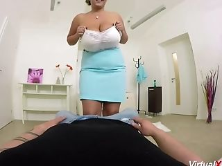 Big Ass, Big Natural Tits, HD, MILF, POV, Stewardess, Titjob,