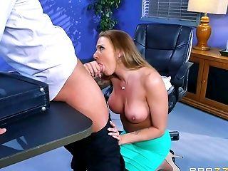 Big Tits, Blowjob, Cum On Tits, Cumshot, Dick, Handjob, Hardcore, High Heels, Legs, Long Hair,