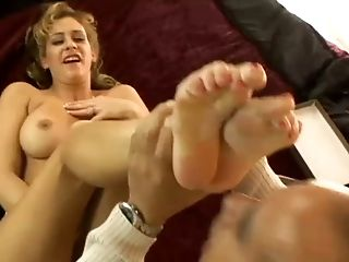 Beauty, Big Tits, Blonde, Cute, Foot Fetish, Footjob, Horny, MILF, Phyllisha Anne, Slut,