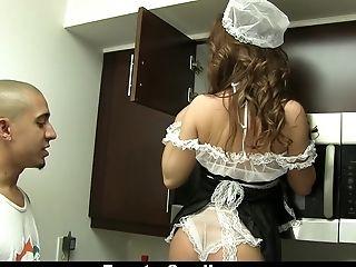 Big Cock, Boobless, Brunette, Hardcore, HD, Maid, Petite,