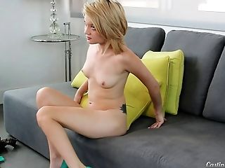 Ass, Blonde, Blowjob, Blue Eyed, Bold, Boobless, Casting, Clamp, Close Up, Couple,