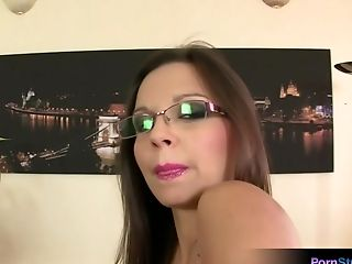 Brunette, Eve Angel, Horny, Moaning, Office, Solo,
