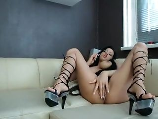Amateur, BBW, Big Tits, Brunette, German, Kissing, Masturbation, MILF, Phone, Stockings,