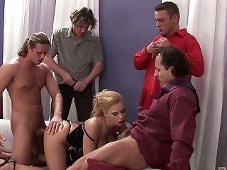 Anal Sex, Ass, Big Tits, Blonde, Blowjob, Bukkake, Cumshot, Double Penetration, Facial, Gangbang,